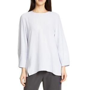 NWT Eileen Fisher Silk Georgette Crepe Blouse M